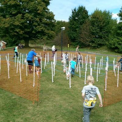 Sarum Maze is popular at KRH Open Day