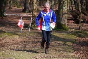 Running hard for the finish