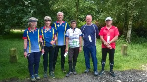 Sarum's two top veterans teams taste success at the 2016 Wessex Hardy Relays.