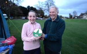 Lucy wins the Pam Errington Young Orienteer Award