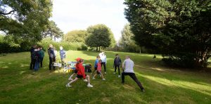Action from the Sarum Orienteering Club (SARUM), Junior Training evening held at Churchill Gardens, Salisbury on Mon 11th Sept 2017.